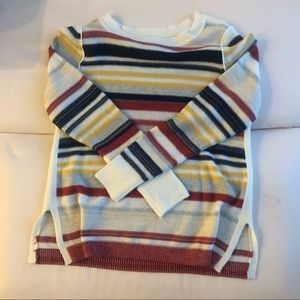 mixed striped pullover